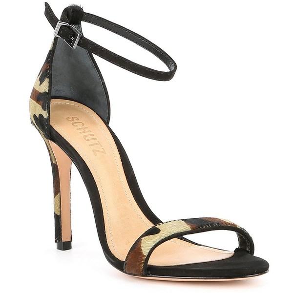 シュッツ レディース サンダル シューズ Nelita Camo Ankle Strap Dress Sandals Camouflage