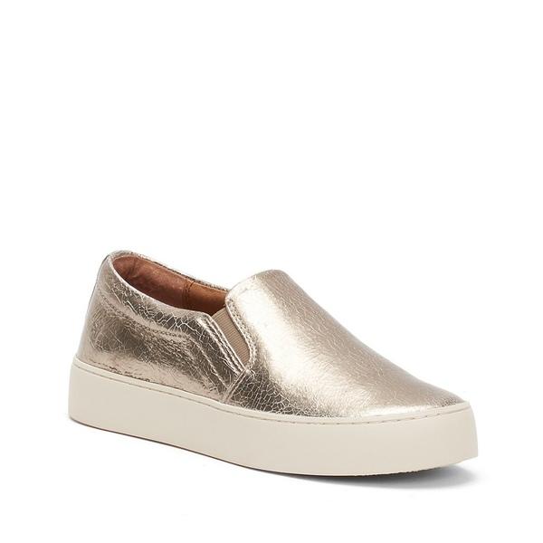 フライ レディース スニーカー シューズ Lena Metallic Suede Slip-On Sneakers Silver