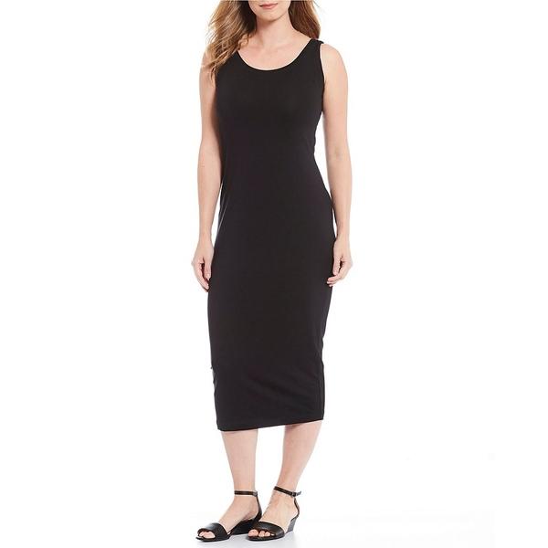マサイ レディース ワンピース トップス Olympia Basic Sleeveless Jersey Fitted Midi Sheath Dress Black