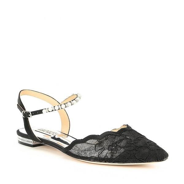 バッジェリーミシュカ レディース サンダル シューズ Lennon Fabric Dress Flats Black Lace