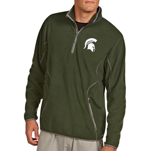アンティグア メンズ ニット&セーター アウター NCAA Ice Quarter-Zip Pullover Michigan State Spartans Green