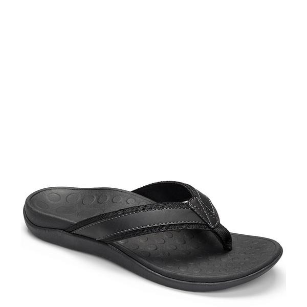 バイオニック メンズ サンダル シューズ Men's Tide Flip-Flops Black