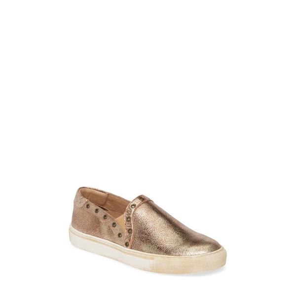 ショコラブルー レディース スニーカー シューズ Neve Slip-On Sneaker Gold Leather
