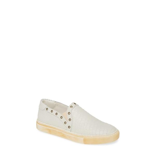 ショコラブルー レディース スニーカー シューズ Neve Slip-On Sneaker White Leather