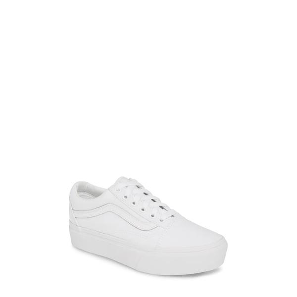 バンズ レディース スニーカー シューズ Old Skool Platform Sneaker True White