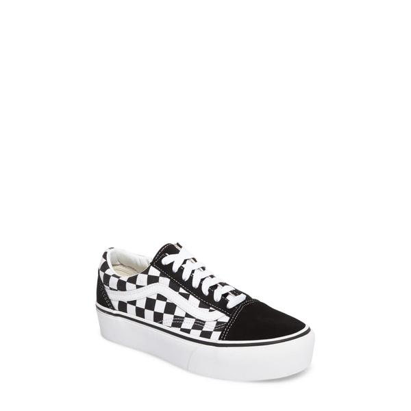 バンズ レディース スニーカー シューズ Old Skool Platform Sneaker Check Black/ True White