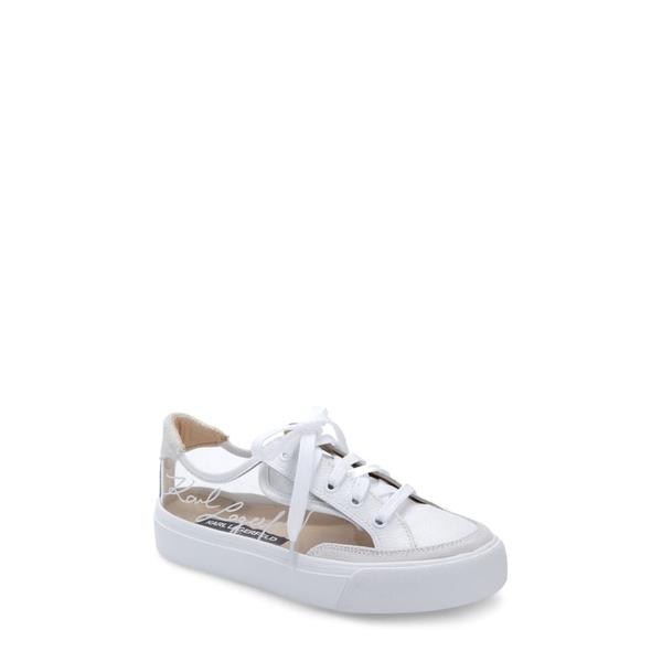 カールラガーフェルド レディース スニーカー シューズ Ryley Sneaker Clear/ White Leather