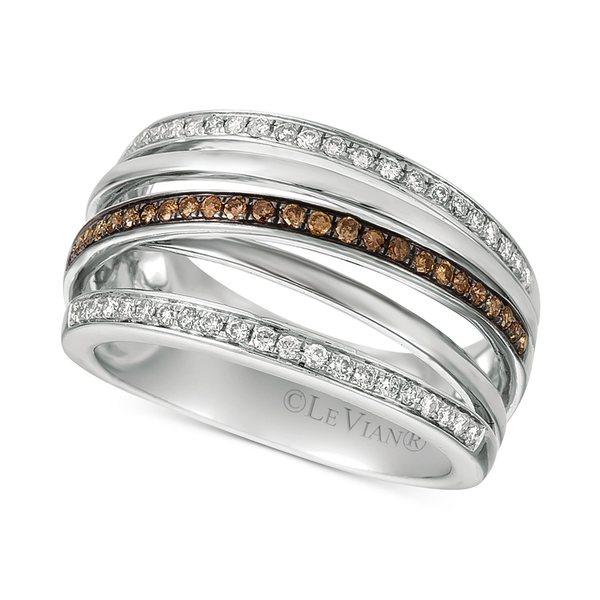 【オンライン限定商品】 ルヴァン レディース リング 14k アクセサリー Chocolatier® リング Diamond ルヴァン Multi-Band Crisscross Ring (3/8 ct. t.w.) in 14k White Gold White Gold, ワイルドクラス:0d0097ce --- easassoinfo.bsagroup.fr