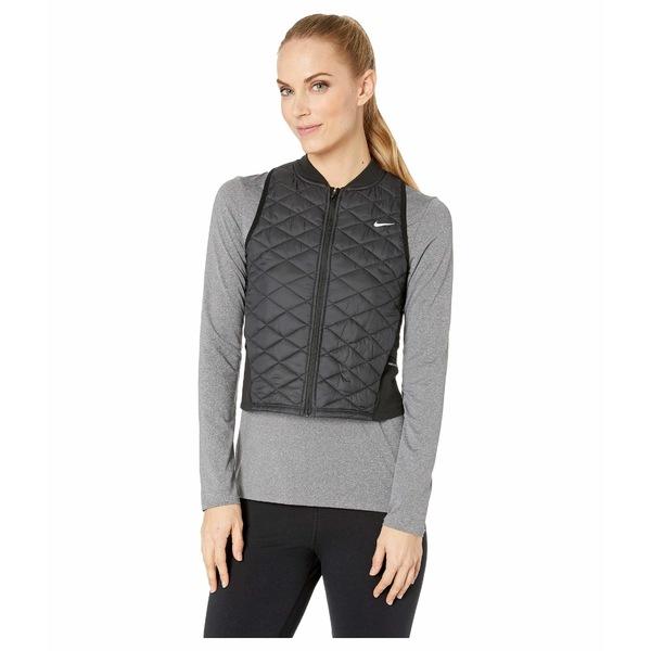 ナイキ レディース コート アウター Aerolayer Vest Black/Atmosphere Grey
