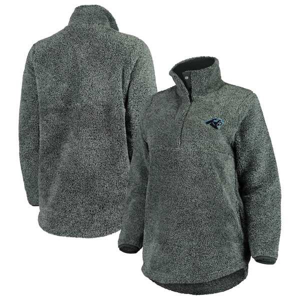 コンセプトスポーツ レディース ジャケット&ブルゾン アウター Carolina Panthers Concepts Sport Women's Trifecta Snap-Up Jacket Charcoal