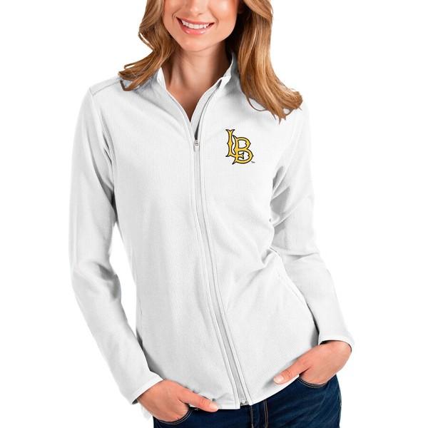 アンティグア レディース ジャケット&ブルゾン アウター Long Beach State 49ers Antigua Women's Glacier Full-Zip Jacket White