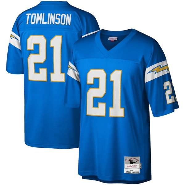 ミッチェル&ネス メンズ シャツ トップス LaDainian Tomlinson Los Angeles Chargers Mitchell & Ness Legacy Replica Jersey Powder Blue