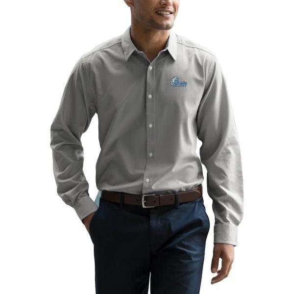 ビンテージアパレル メンズ シャツ トップス Drake Bulldogs Vansport Sandhill Dress Shirt Gray/White