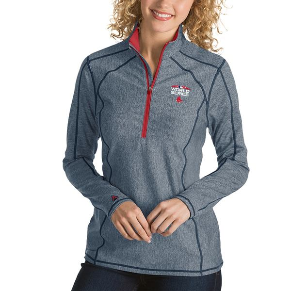 アンティグア レディース ジャケット&ブルゾン アウター Boston Red Sox Antigua Women's 2018 World Series Bound Tempo Quarter-Zip Jacket Navy