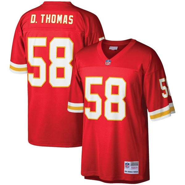 ミッチェル&ネス メンズ シャツ トップス Derrick Thomas Kansas City Chiefs Mitchell & Ness Legacy Replica Jersey Red