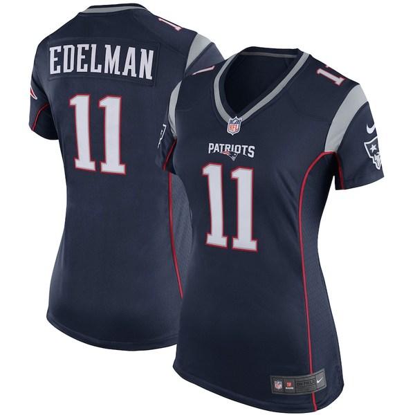ナイキ レディース シャツ トップス Julian Edelman New England Patriots Nike Women's Game Jersey Navy Blue