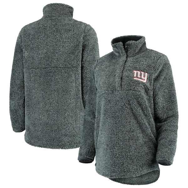 コンセプトスポーツ レディース ジャケット&ブルゾン アウター New York Giants Concepts Sport Women's Trifecta Snap-Up Jacket Charcoal