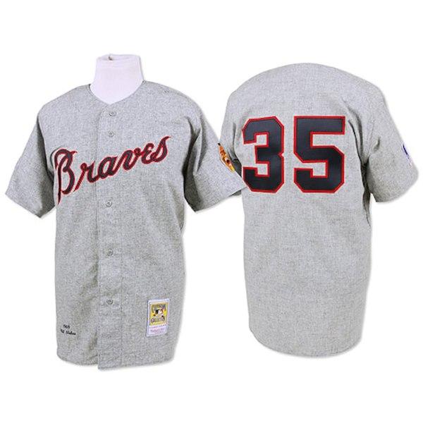 ミッチェル&ネス メンズ シャツ トップス Phil Niekro 1969 Atlanta Braves Mitchell & Ness Authentic Throwback Jersey Gray