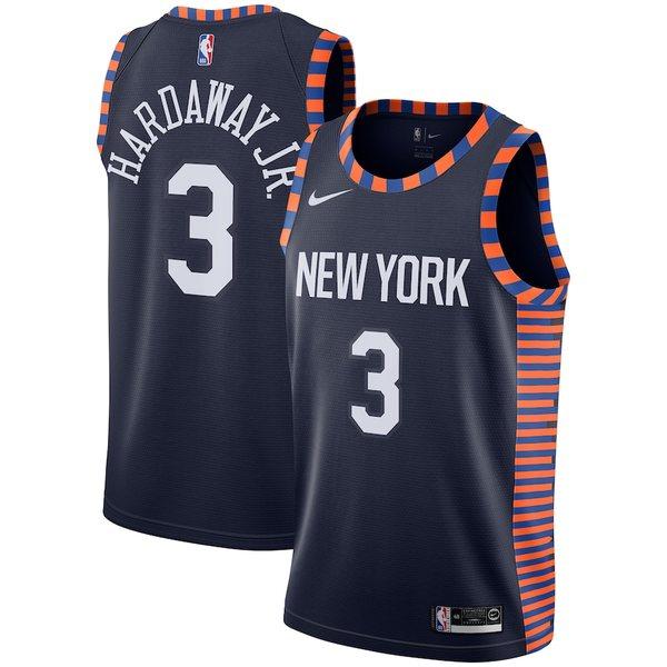 ナイキ メンズ シャツ トップス Tim Hardaway Jr New York Knicks Nike City Edition Swingman Jersey Navy