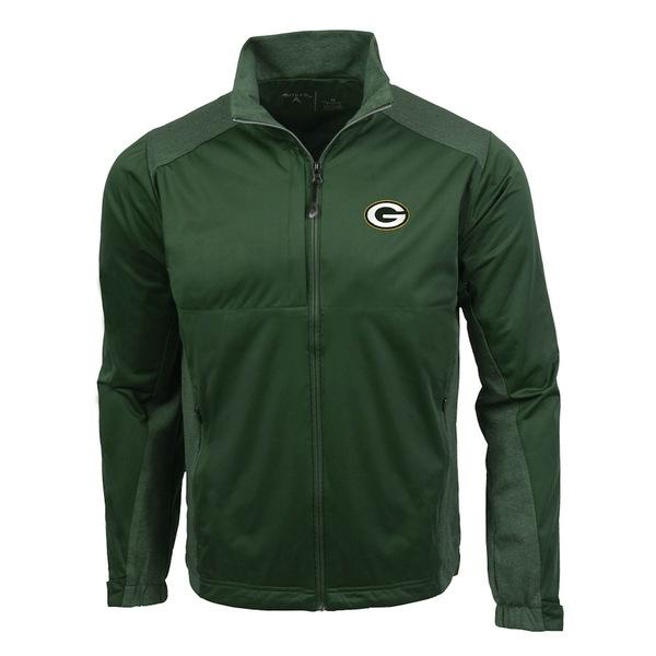 アンティグア メンズ ジャケット&ブルゾン アウター Green Bay Packers Antigua Revolve Full-Zip Jacket Green