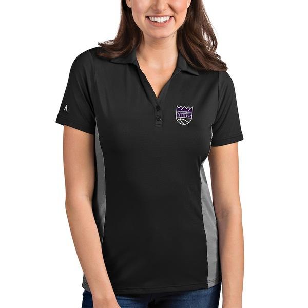 アンティグア レディース ポロシャツ トップス Sacramento Kings Antigua Women's Venture Polo Charcoal/White