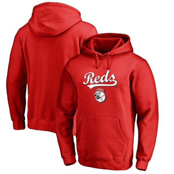 ファナティクス メンズ パーカー・スウェットシャツ アウター Cincinnati Reds Fanatics Branded Team Lockup Pullover Hoodie Red