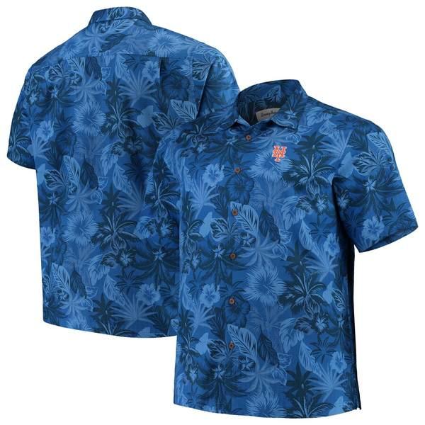 トッミーバハマ メンズ シャツ トップス New York Mets Tommy Bahama Big & Tall Fuego Floral Button-Up Shirt Royal