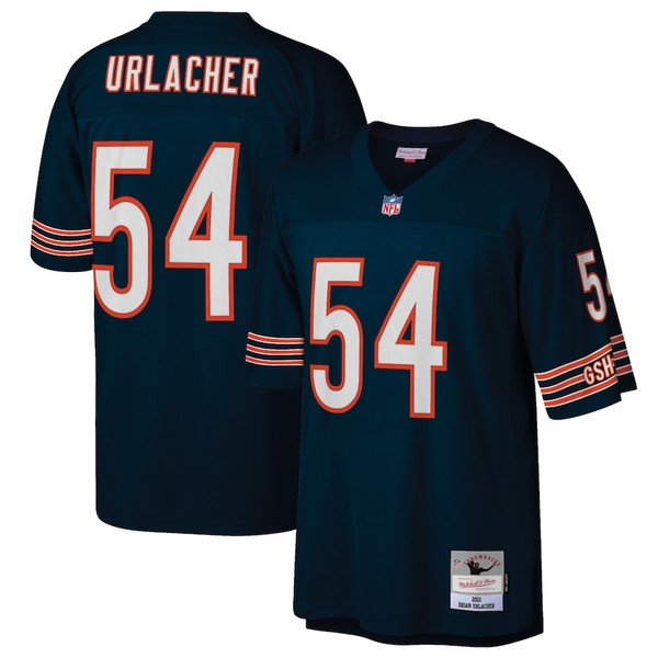 ミッチェル&ネス メンズ シャツ トップス Brian Urlacher Chicago Bears Mitchell & Ness Retired Player Legacy Replica Jersey Navy