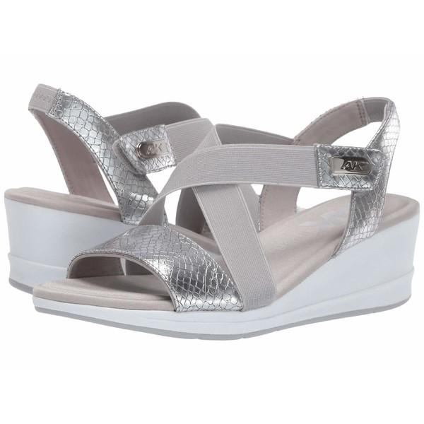 アンクライン レディース ヒール シューズ Sport Nessy Wedge Sandal Silver