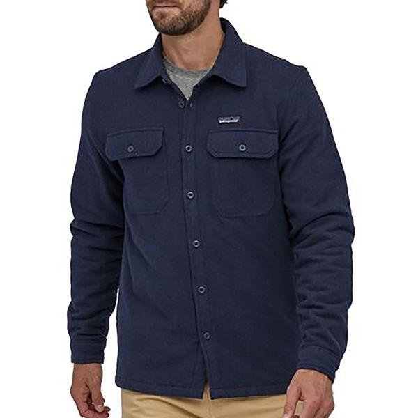 パタゴニア メンズ ジャケット&ブルゾン アウター Patagonia Men's Insulated Fjord Flannel Navy Blue