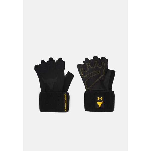 アンダーアーマー メンズ お買い得品 アクセサリー 手袋 black 全商品無料サイズ交換 PROJECT ROCK gloves アウトレット☆送料無料 Fingerless TRAINING uspp00e6 -