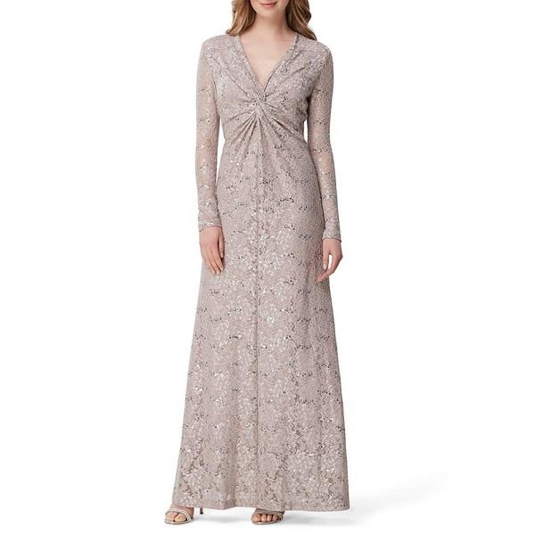 タハリエーエスエル レディース Gown ワンピース レディース トップス Twist Front Sequin Lace Front A-Line Gown Mauve, 野球専門店ベースマン:1b7bde48 --- officewill.xsrv.jp