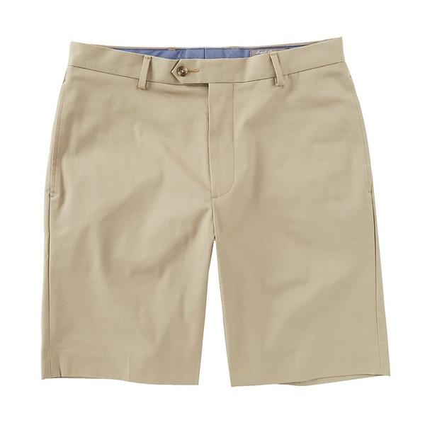 クレミュ メンズ ハーフ&ショーツ ボトムス Daniel Cremieux Signature Flat-Front Stretch Twill 9#double; Inseam Shorts Khaki