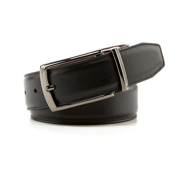 ムラノ メンズ ベルト アクセサリー Reversible Leather Belt Black