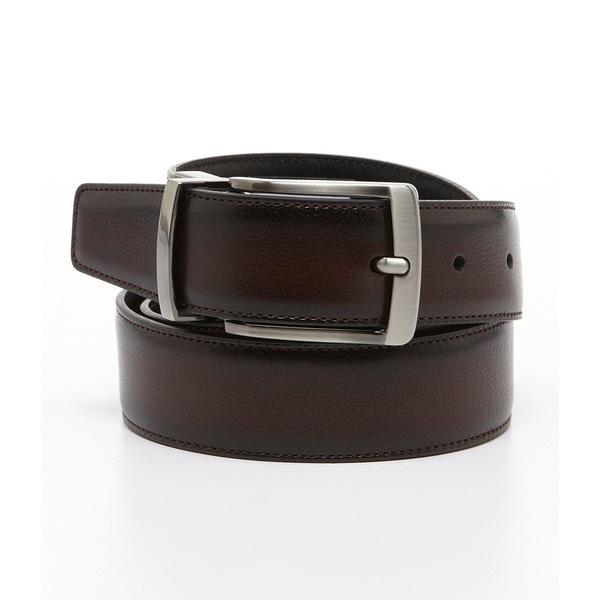 ランドツリーアンドヨーク メンズ ベルト アクセサリー Burnish Edge Reversible Belt Brown/Black