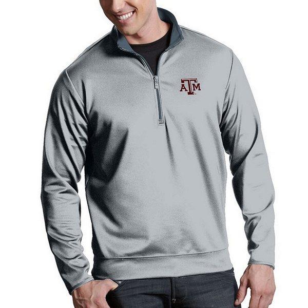 アンティグア メンズ ニット&セーター アウター NCAA Leader Quarter-Zip Pullover Texas A and M Aggies Grey