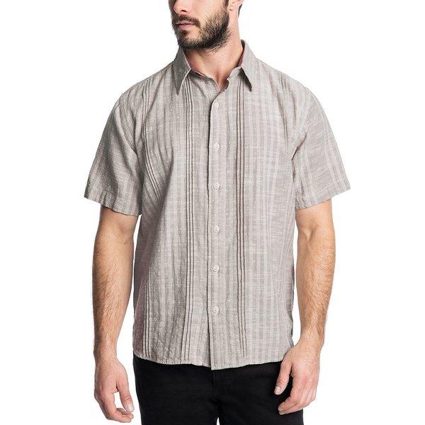 フライ メンズ シャツ トップス Eden Wide Stripe Short-Sleeve Shirt Eden Wide Stripe