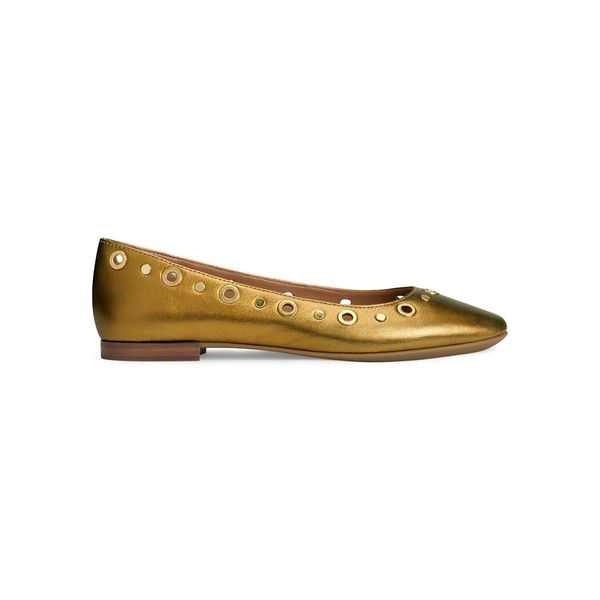 エアロソールズ レディース サンダル シューズ Martha Stewart Goldie Embellished Leather Ballet Flats Yellow