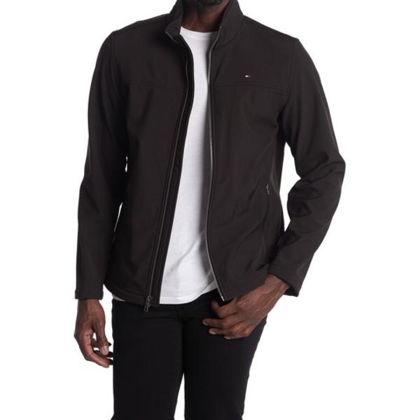 トミー ヒルフィガー メンズ ジャケット&ブルゾン アウター Stand Collar Zip Jacket BLACK