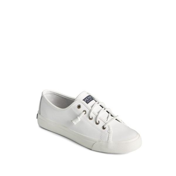 スペリー 高価値 レディース シューズ スニーカー WHITE Leather 爆安プライス Seacoast 全商品無料サイズ交換 Sneaker