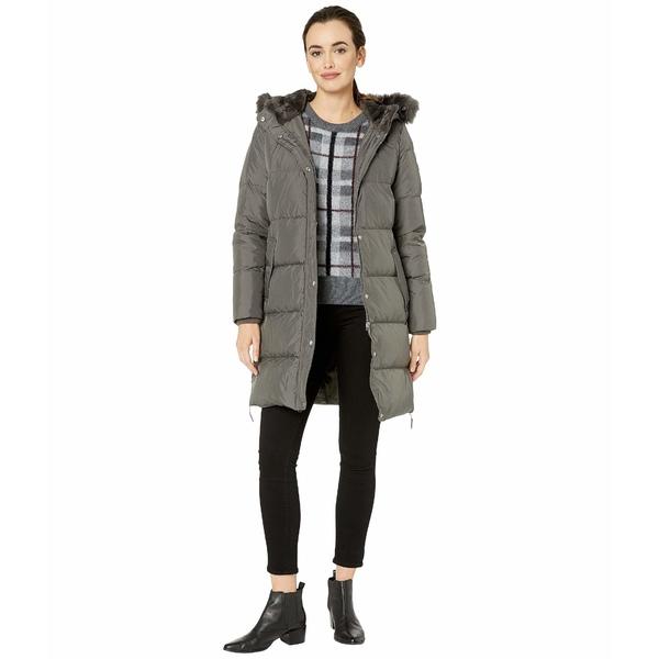 ラルフローレン レディース コート アウター Horizontal Heavy Down w/ Flap Pockets Puffer Coat Flannel