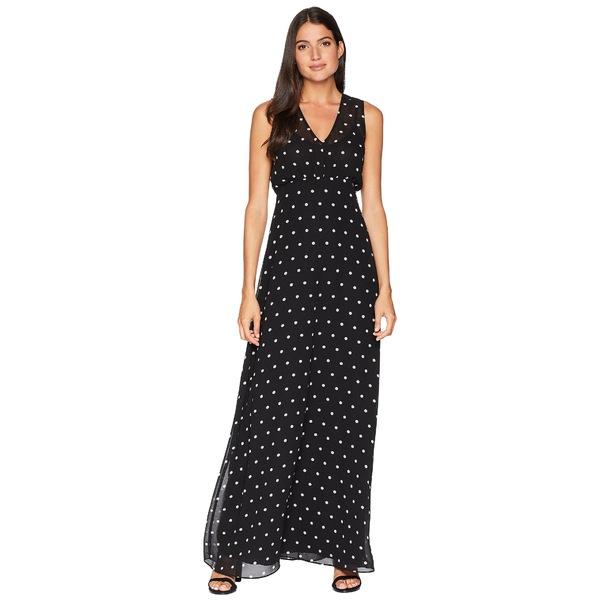 ジューシークチュール レディース ワンピース トップス All Over Dot Maxi Dress Pitch Black Angel Polka Dot