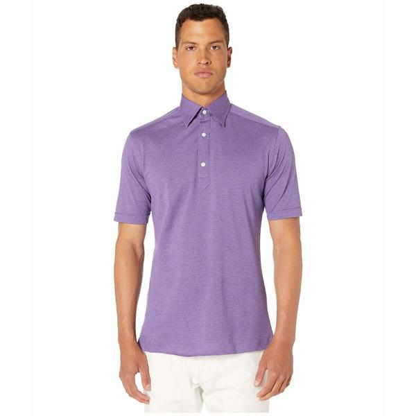 エトン メンズ シャツ トップス Classic Polo Purple