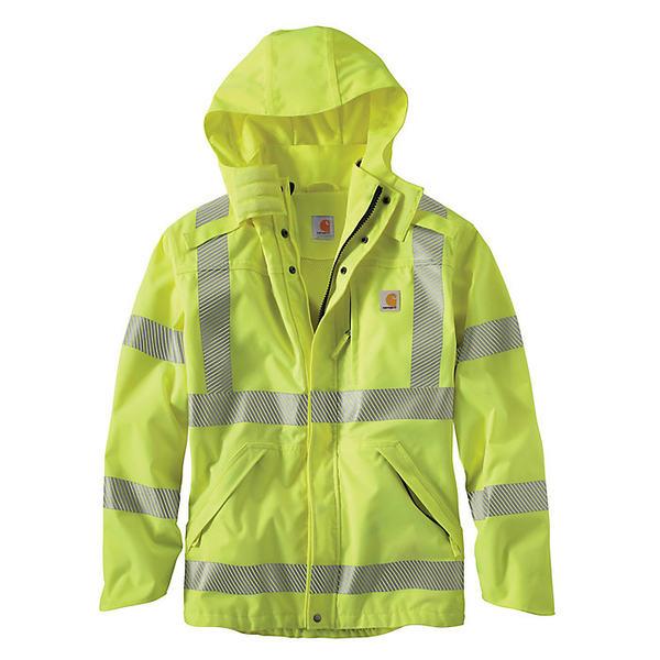 カーハート メンズ ジャケット&ブルゾン アウター Carhartt Men's High-Visibility Class 3 Waterproof Jacket Brite Lime