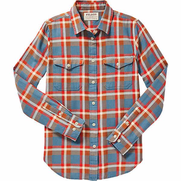 フィルソン レディース シャツ トップス Filson Women's Scout Shirt Dark Teal / Brown / Red Plaid