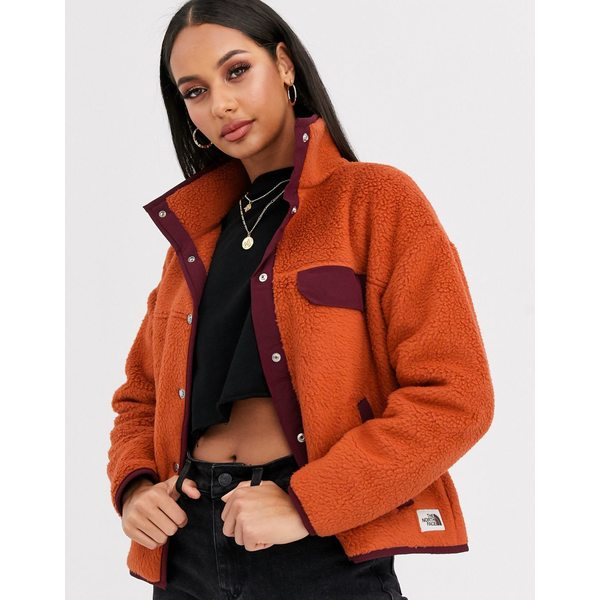 ノースフェイス レディース ジャケット&ブルゾン アウター The North Face Cragmont fleece jacket in orange Orange