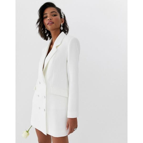 エイソス レディース ワンピース トップス ASOS EDITION blazer wedding dress Ivory
