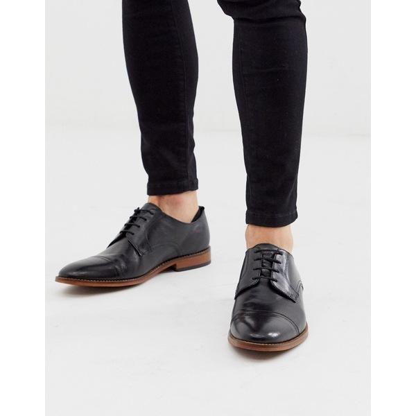 ベースロンドン メンズ スニーカー シューズ Base London Trailer toe cap shoes in black Black