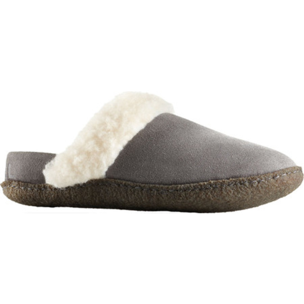 ソレル レディース サンダル シューズ Nakiska Slide II Slipper Quarry/Natural/Brown Suede