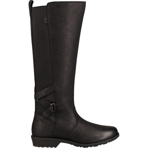 テバ レディース ブーツ&レインブーツ シューズ Ellery Tall Waterproof Boot Black